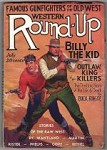 Western Round-Up Jul 1934 Rudolph Belarski Cover with Billy the Kid, First Issue