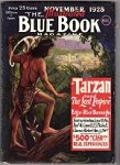 Blue Book Nov 1928 Burroughs Tarzan Cover
