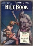 Blue Book Apr 1930 Burroughs - Fighting Man of Mars Cover