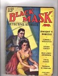 Black Mask Jan 1938 Cornell Woolrich; GG Cover Art