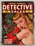 Detective Tales Jul 1947 GG and bloody dagger Cover Art