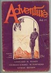 Adventure Jul 1 1927 Rockwell Kent wood-cut Cover Series number 9 of 11