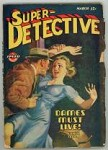 Super Detective Mar 1945 Good Girl Cover Art