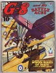 G-8 Battle Aces Aug 1943 Leo Morey illustrations;