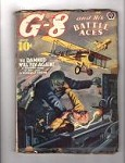 G-8 Battle Aces Jul 1940 Zombie Cvr;