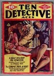 Ten Detective Aces Feb 1940 Saunders GG Choking Cvr; Lawrence Treat