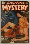 Exciting Mystery Oct 1942 GGA Cover; Frederick Brown; WT Ballard