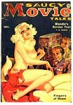 Saucy Movie Tales Dec 1935;GGA nude Blondie's first screen test cvr art; Fax Cover