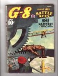 G-8 Battle Aces Aug 1938 Robert J. Hogan, Frederick Blakeslee