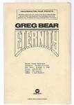 Eternity by Greg Bear (First Edition)